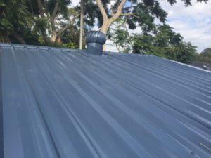 Whirly Bird on Colourbond Roof