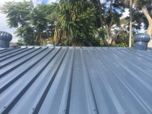 Whirly Birds on Colourbond Roof